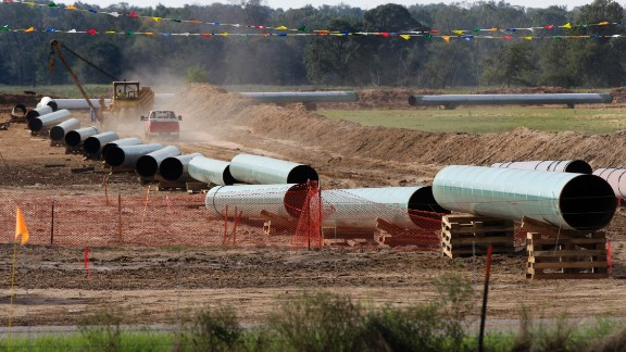 The Keystone XL pipeline, expected to carry 830,000 barrels a day, has met with protests largely over environmental concerns.