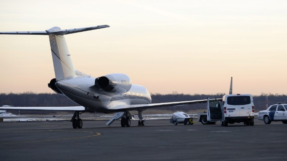 U.S. Customs and Border Protection officers searched Bieber's private airplane -- thought to be the one pictured -- January 31, 2014, at Teterboro Airport in New Jersey. Officers said they detected an odor of what seemed like marijuana after the plane landed, law enforcement sources told CNN. Drug-sniffing dogs were used to search the plane, according to one of the sources, but no sign of drugs were detected and no illegal substances were found. The investigation was closed in July.