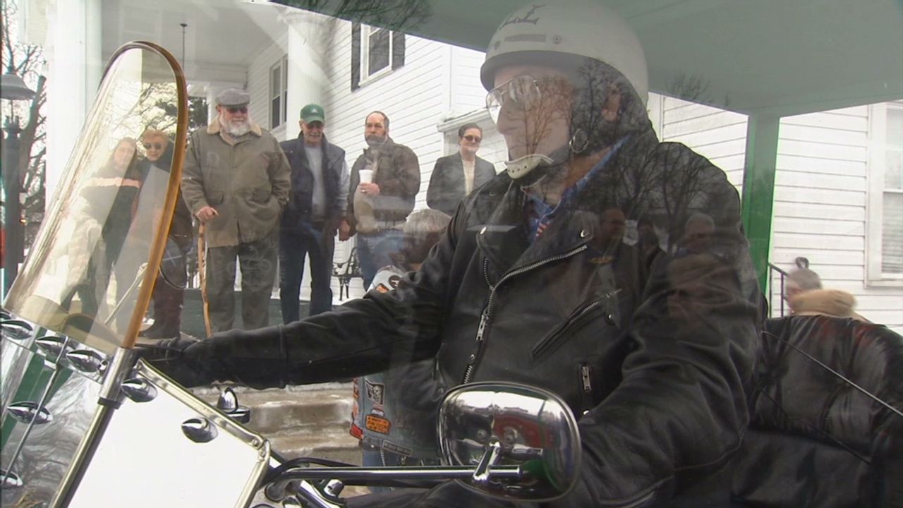 Man laid to rest atop bed motorcycle - CNN Video