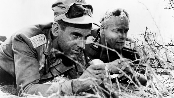"""Maximilian Schell appears in """"The Young Lions,"""" his film debut, with Marlon Brando in 1958."""