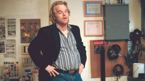 Hoffman plays a phone sex-line supervisor and mattress store owner in 2002