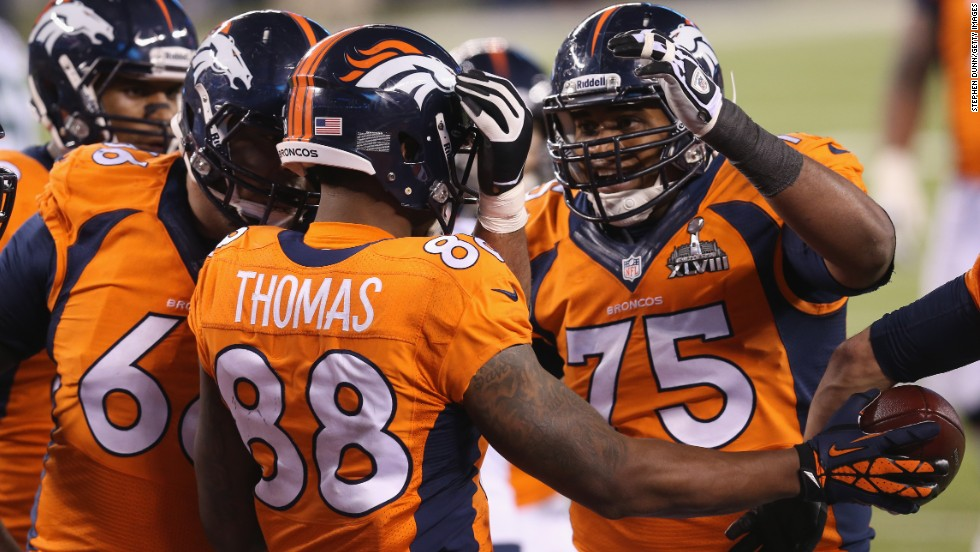 Demaryuis Thomas scored a deserved touchdown in the third quarter to provide a rare moment of success for Denver.