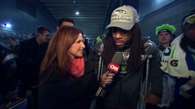 Richard Sherman hobbled, but victorious