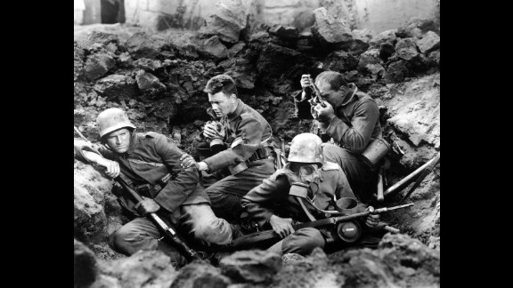 """""""All Quiet on the Western Front"""" (1931): """"All Quiet on the Western Front,"""" best picture of 1929-30, was the film adaptation of Erich Maria Remarque's classic novel. The film stars Lewis Wolheim and Lew Ayres and was directed by Lewis Milestone."""
