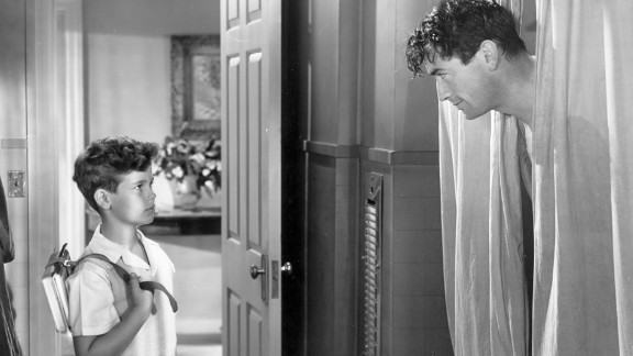 """""""Gentleman's Agreement"""" (1948): Elia Kazan's """"Gentleman's Agreement"""" continued Hollywood's exploration of more serious subject matter, this time anti-Semitism. Gregory Peck, right, plays a reporter who goes undercover posing as a Jew, making his girlfriend (Dorothy McGuire) face uncomfortable truths about her upper class WASP life. A young Dean Stockwell played Peck's son."""