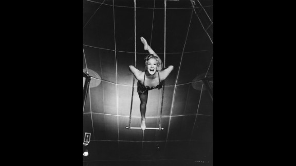 """""""The Greatest Show on Earth"""" (1953): Producer-director Cecil B. DeMille had been making epics since the silents, but none had won best picture until """"The Greatest Show on Earth,"""" a 1952 circus spectacular with Betty Hutton, pictured, and Charlton Heston. Many critics and fans dismiss the movie as one of the worst best picture Oscar winners. """"Singin' in the Rain,"""" considered Hollywood's greatest movie musical, wasn't even nominated that year."""