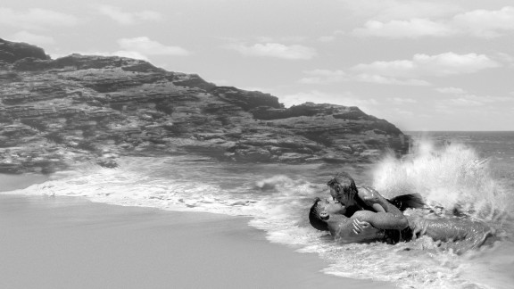 """""""From Here to Eternity"""" (1954): Facing the strict movie censorship of the 1950s, director Fred Zinnemann's version of """"From Here to Eternity"""" considerably toned down James Jones' tough and profane novel about military life in Hawaii on the eve of the Pearl Harbor attack. But Burt Lancaster and Deborah Kerr's sexy tryst on the beach made waves among moviegoers."""