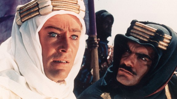 "Omar Sharif, who died Friday, July 10, at 83, rose to international stardom with his performance opposite Peter O'Toole, left, in ""Lawrence of Arabia"" (1962). His work earned him a Golden Globe win and an Oscar nomination."