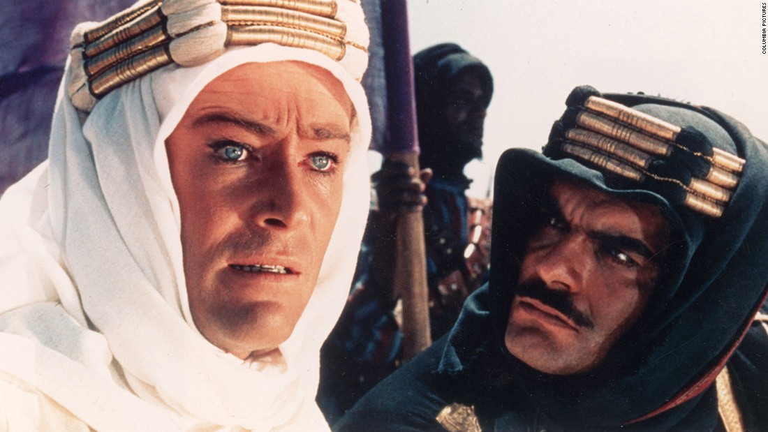 "David Lean created the <a href=""http://www.afi.com/10top10/epic.html"" target=""_blank"">epic of all epics</a> with ""Lawrence of Arabia."" <a href=""http://www.cnn.com/2013/12/15/showbiz/peter-otoole-obit/"">Peter O'Toole</a>, left, with Omar Sharif, became a superstar with his portrayal of T.E. Lawrence, the legendary British officer who helped lead the Arab revolt against the Ottoman Empire in World War I. The movie won seven Oscars, including for Lean's direction."