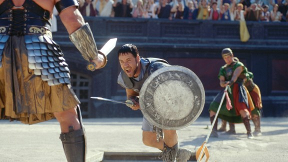 """Gladiator"" (2000) -- Russell Crowe and Joaquin Phoenix star in this Ridley Scott-directed film about a Roman general who is enslaved and forced to fight as a gladiator. (Netflix)"