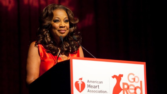 Star Jones speaks at an American Heart Association Go Red luncheon.