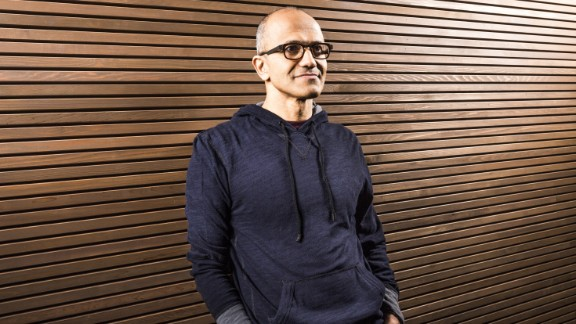 Satya Nadella becomes the third CEO of Microsoft, and has been with the company for 22 years.