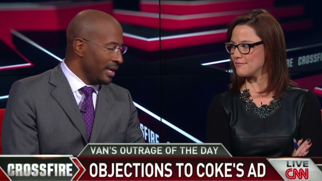 Crossfire Van Jones outrage on Coke ad_00012003.jpg