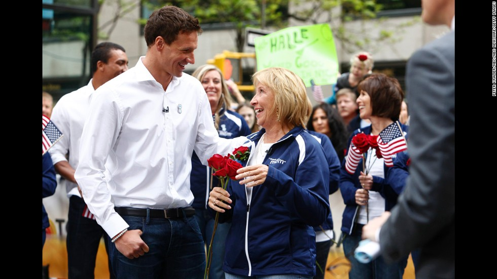 "U.S. swimmer Ryan Lochte and his mother, Ileana, appear on the ""Today"" show in 2012."