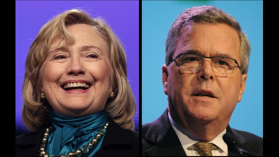 The new polling indicates the next presidential election in 2016 may again offer familiar choices.