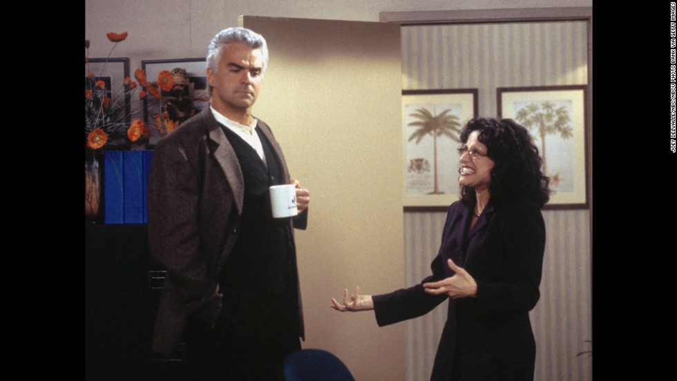 John O'Hurley was often the butt of the joke as J. Peterman when he teamed up with Louis-Dreyfus.