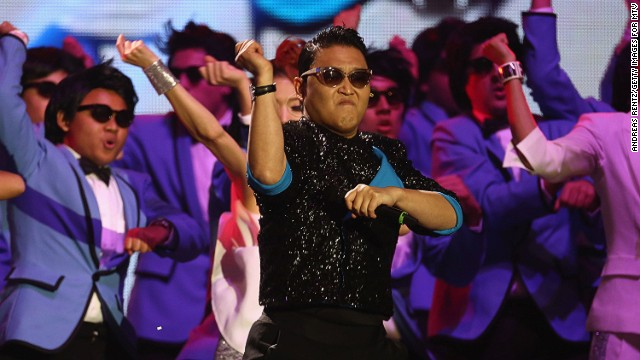 """Gangnam Style"" by South Korean rapper Park Jae Sang went viral in 2012."