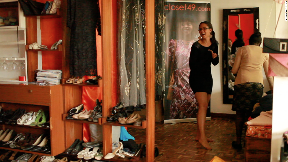 Using Kanyua's living room as their base, the two business partners called their shop Closet49.