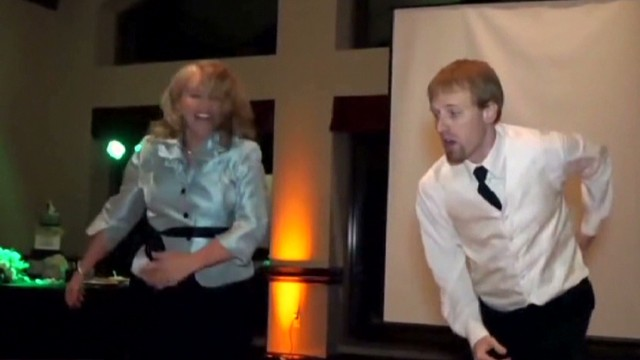 See mom and son's epic wedding dance