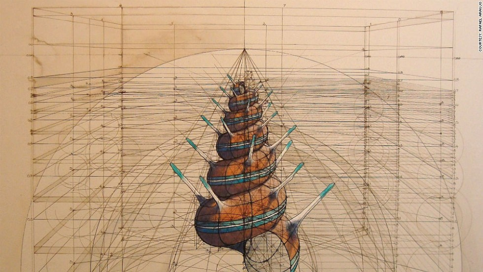 Venezuelan artist uses trigonometry and dot sequences to create drawings that echo those of Leonardo da Vinci.