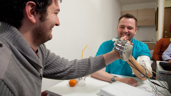Researchers hope to use this principle to create a prosthetic hand system that allows amputees to feel touch outside of the laboratory, too.