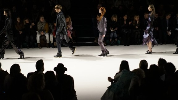 Leather jackets, trench coats and unisex pieces were mainstays during Richard Chai