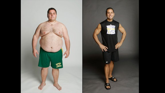 "Bill Germanakos helped set the standard for what it means to be ""The Biggest Loser"" when he lost 164 pounds in season 4. Bill signed up for the show with his twin brother, Jim, who also lost a massive amount of weight thanks to the show. Although Jim was eliminated, he kept up at home and dropped 185 pounds."
