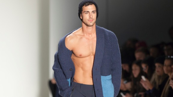 Nautica shows its Black Sail collection for men on Friday, February 7. Luckily, it was warmer in Lincoln Center than it was outside in the frigid Northeastern temperatures.
