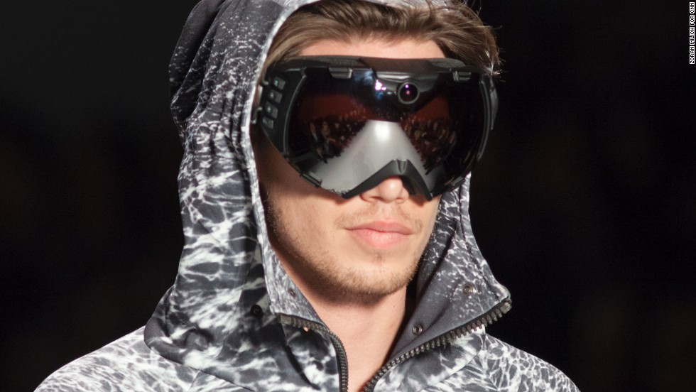 Nautica is known for its men's sportswear, like these ski goggles.