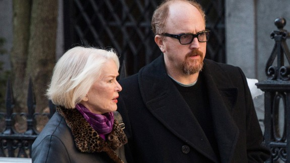 Actress Ellen Burstyn and comedian Louis C.K. attended the funeral.