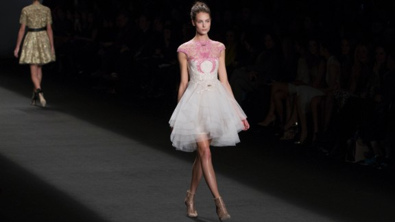 Lhuillier said she researched Parisian couture techniques for this collection.