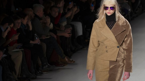 Two-toned jackets and separates were a prominent theme in Custo Barcelona