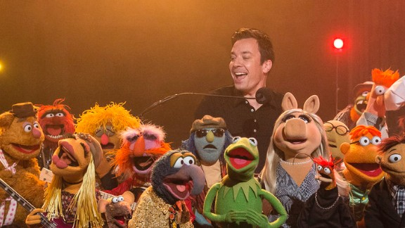 """Jimmy Fallon's final """"Late Night"""" included a visit from the Muppets."""
