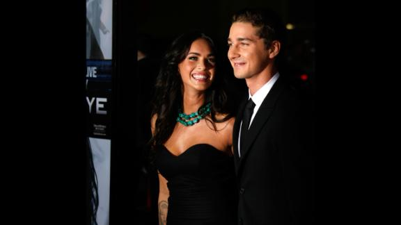 """Megan Fox and Shia LaBeouf arrive at the premiere of Dreamworks' """"Eagle Eye"""" at the Mann Chinese Theater on September 16, 2008 in Los Angeles."""