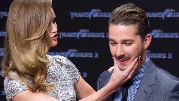 """LaBeouf's transformation included saying goodbye to the """"Transformers"""" series in 2011. The actor filmed the third installment, """"Transformers: Dark of the Moon"""" -- which replaced his former co-star Megan Fox with Rosie Huntington-Whiteley -- and then announced he'd washed his hands of Michael Bay's chain of blockbusters. """"I don't have anything new to contribute,"""" he said that year."""