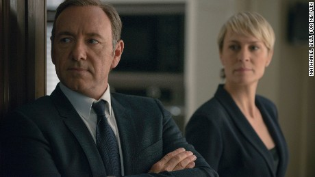 "Frank Underwood and his wife Claire (Kevin Spacey and Robin Wright) continue their conniving ways on ""House of Cards.'"