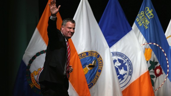 """Mayor Bill de Blasio in his State of the City address: """"We will not force any of our residents to live their lives in the shadows."""""""