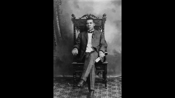 Booker T. Washington, educator and champion of rights for blacks, was born to a black woman, Jane. She never named his white father, who was said to be a nearby planter.