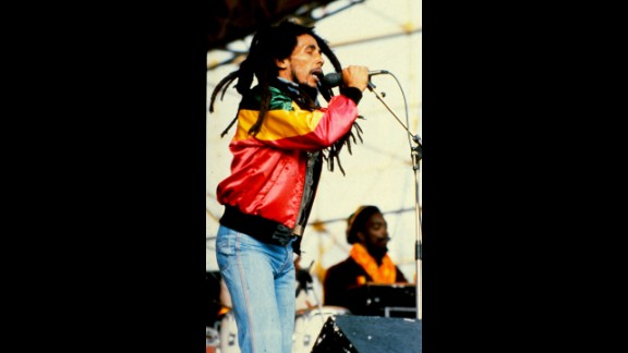 Jamaican singer Bob Marley was born to a black Jamaican store owner and cook and a white British army captain.