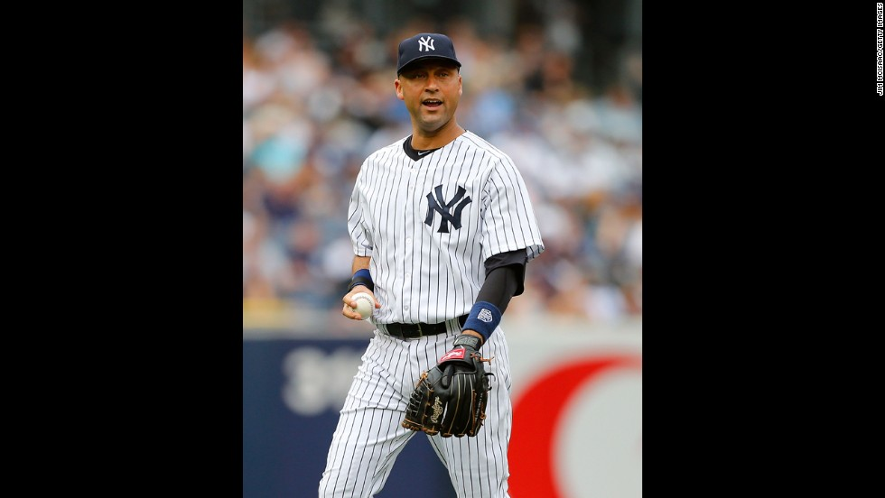 "New York Yankees shortstop Derek Jeter is the son of a white mother and black father. ""You'd go places and get stares,"" <a href=""http://www.youtube.com/watch?v=JhxlKjQq3zY"" target=""_blank"">he told Barbara Walters</a> about growing up biracial. ""If you were just with one of your parents, people would give you a double-take because something just didn't seem right."""