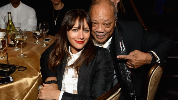 "Actress Rashida Jones is the daughter of actress Peggy Lipton and record producer Quincy Jones, pictured here. On her identity, she remarked: ""It"