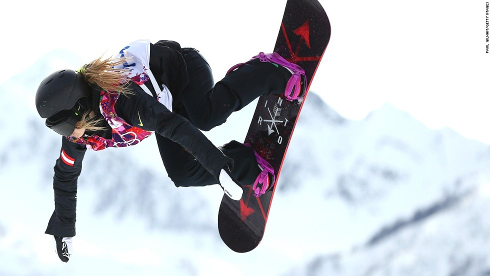 """It was the best feeling just to compete even though it didn't work out the way I wanted,"" says Austria's Anna Gasser, who qualified fastest for the women's snowboard slopestyle final but finished 10th after suffering two falls and a false start."