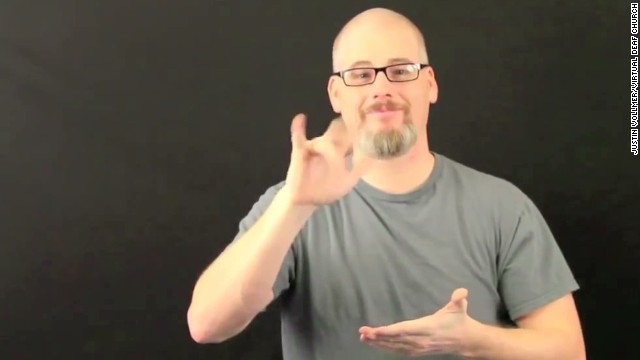 Deaf church pastor signs 'I'm atheist'
