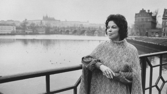Temple Black stands by the river in Prague, Czechoslovakia, in 1990. She served as ambassador to Czechoslovakia from 1989 to 1992.