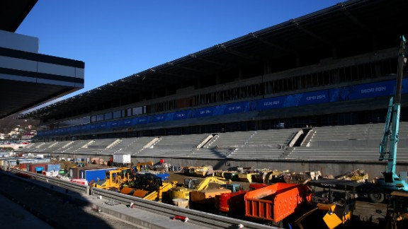 Another major project that has yet to be finished is the city's Formula One track. Sochi is scheduled to host its first F1 race in October 2014.