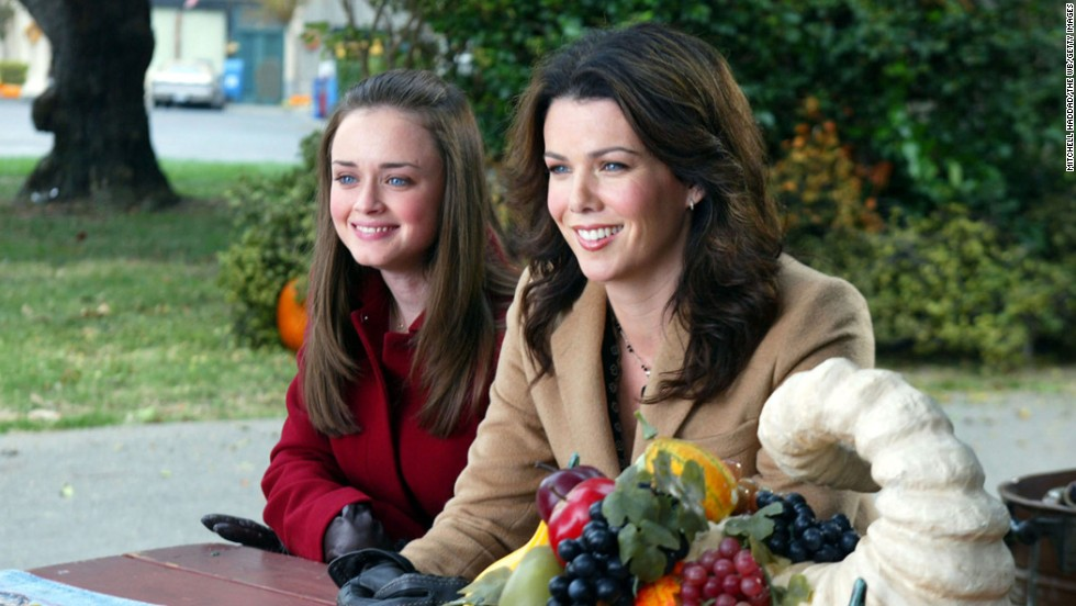 "Lauren Graham, right, as Lorelai Gilmore, who runs and later owns an inn, in ""Gilmore Girls."""