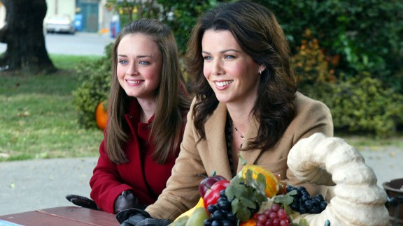 """Lauren Graham, right, as Lorelai Gilmore, who ran and later owned an inn, in """"Gilmore Girls."""""""