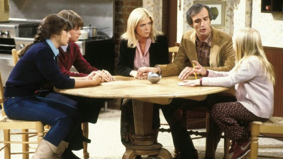 """Meredith Baxter, center, as architect Elyse Keaton in """"Family Ties."""""""
