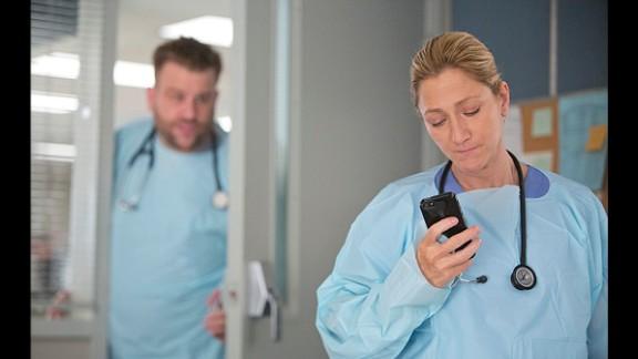 """Edie Falco as Jackie Peyton in """"Nurse Jackie."""""""