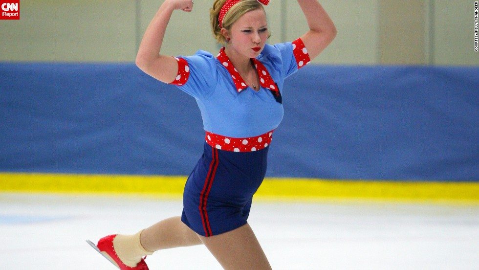 Fourteen-year-old Presley returned to skating after several months healing a stress fracture in her right foot.